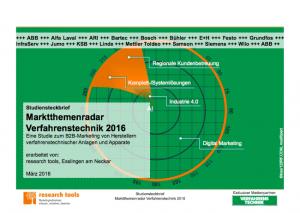 Marktthemenradar Verfahrenstechnik 2016