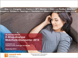 Studiensteckbrief_E-Shop-Analyse Mobilfunk-Discounter 2014