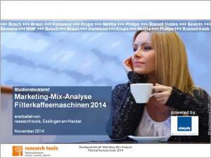 Studiensteckbrief_Marketing-Mix-Analyse Filterkaffeemaschinen 2014