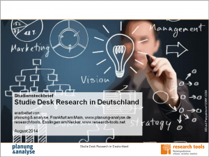 Studiensteckbrief_Studie Desk Research in Deutschland
