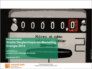 Studiensteckbrief_Studie Vergleichsportal-Marketing Energie 2014