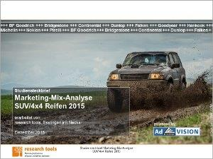 Titelblatt_Studiensteckbrief_Marketing-Mix-Analyse SUV 4x4 Reifen 2015-72
